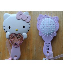 Brosse cheveux rose strass e coeur hello kitty 15cm - Hello kitty coeur ...