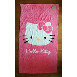 "Drap de plage Hello Kitty summertime ""tete de Kitty"" 130x70cm"