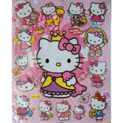 Lot de 15 stickers Hello Kitty