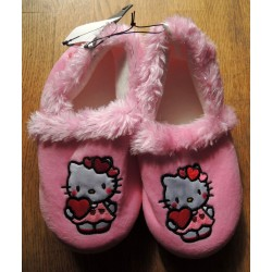 "Chaussons Hello Kitty rose ""Love"" T32-33"