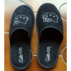 Chaussons Hello Kitty noirs strassés T40-41 (occasion)
