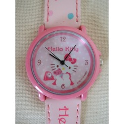 "Montre rose Hello Kitty ""Ourson"" avec bracelet simili cuir"