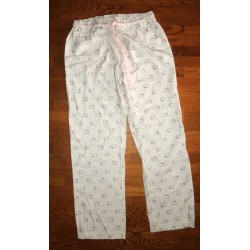 "Pantalon de pyjama Hello Kitty beige ""Tetes de Kitty"" taille L"