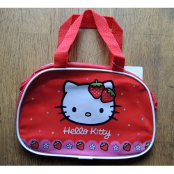 Sac bowling Hello Kitty rouge en PVC 23x15x8cm