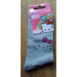 """Chaussettes Hello Kitty grises """"Silouette"""" T35-38"""