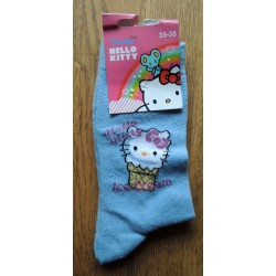 """Chaussettes Hello Kitty bleues """"Ice cream"""" T35-38"""
