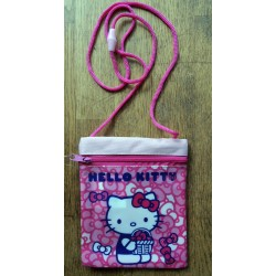 Sac Hello Kitty rose face avant PVC face arriere en toile 16x13cm