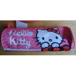 Trousse Hello Kitty rose et rouge 22cmx8cm de diametre