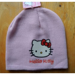 "Bonnet Hello Kitty rose ""tete de Kitty"" taille unique"