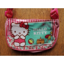 "Mini sac a main Hello Kitty rose ""Plage"" 19x11x6cm en PVC"