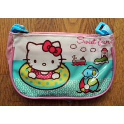 "Mini sac a main Hello Kitty rose ""Bouée"" 19x11x6cm en PVC"