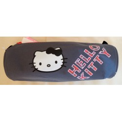 Trousse Hello Kitty grise 22cmx8cm de diametre