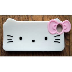"Coque pour Iphone 5/5S Hello Kitty blanche ""Tete de Kitty"""