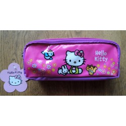 "Trousse Hello Kitty rose ""Hello Kitty et ses amis"" 20x10x5cm"