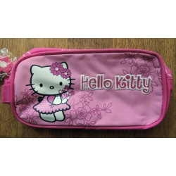 "Trousse Hello Kitty rose ""Flowers 2"" 21x11x5cm"