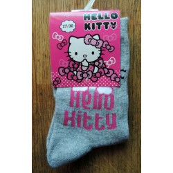 Chaussettes Hello Kitty grises pointure 27-30
