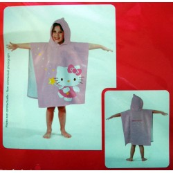 Cape de bain pour enfant Hello Kitty 60x120cm