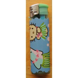 "Briquet Hello Kitty vert  ""Hawai"""