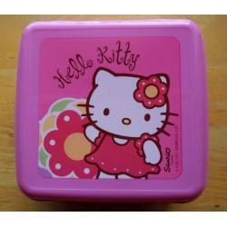 "Lunch Box Hello Kitty rose ""flower"" 14x13x6cm"