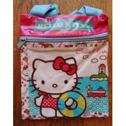 "Mini pochette Hello Kitty ""Plage"" 18x15cm"