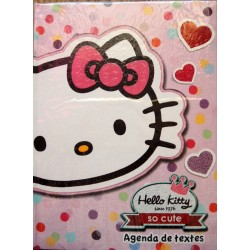 "Cahier de texte Hello Kitty rose "" So Cute"" 22x16cm"