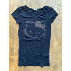 "T-shirt debardeur Hello Kitty ""The world"" mauve taille XS"