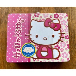 "Mini cartable rose Hello Kitty en metal ""Siting Kitty"" 20x15x5cm"