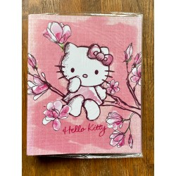 Classeur spirales format A4 Hello Kitty rose